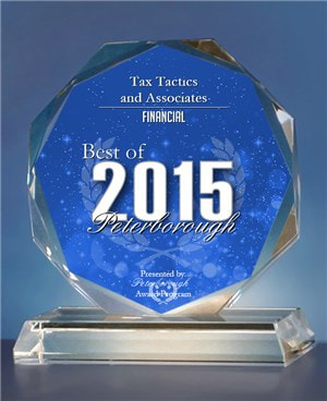 Tax Tactics & Associates 2015 Award